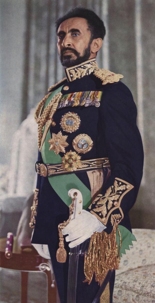 377378e8028e Haile Selassie I in full royal regalia. Source  Public Domain 1970
